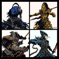 Dark Souls: The Four Knights by MenasLG