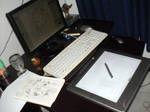my desk by venonded