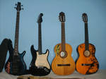 my bass and guitars by venonded