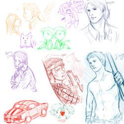 Supernatural RP sketch dump by Supernatural-Fox