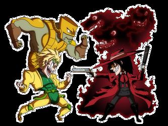 Crafty Concoction: Dio (JJBA) VS Alucard (Hellsing by DrCrafty