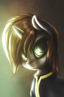 Littlepip portrait(updated) by fShydale