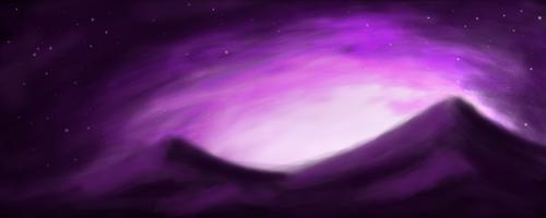 Purple sky by Destinaetus