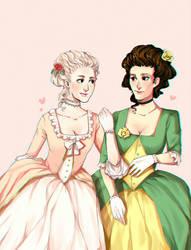 Marie Antoinette and Gabrielle by PonuryGrajek