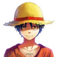 Mugiwara Luffy - One Piece by ombobon