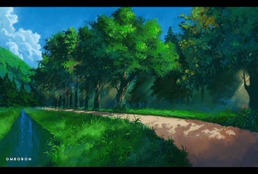 VN Background Study 1 by ombobon