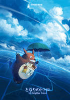 Flying With Totoro by ombobon