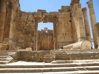 Temple of Bacchus, Baalbek -3 by LloydG