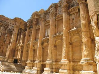 Temple of Bacchus, Baalbek -5 by LloydG