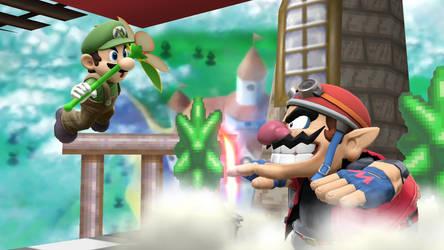 Smash Wii U- Amiirio and Wariibo by Killzonepro194