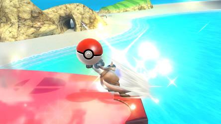 Smash Wii U- Lucariibo's Pokeball Head by Killzonepro194