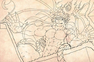 Kemthis Lineart by Guardian-Beast