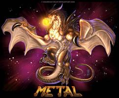 FANart: My Music - Metal Dragon Consuming The Sun by Guardian-Beast