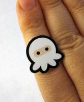 White Ninjapus Ring by egyptianruin