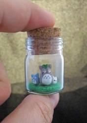 Tinier Totoro Bottle by egyptianruin