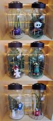 Mason Jar Monsters by egyptianruin