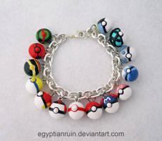Pokeball Bracelet 1 by egyptianruin