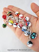Pokeball Bracelet 2 by egyptianruin