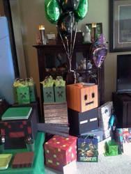 Son's 5th Birthday - Minecraft 2 by egyptianruin