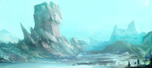 snow mountain by ANG-angg