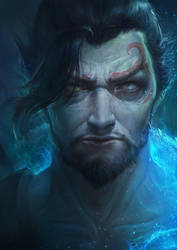 OVERWATCH Fan Art Demon Hanzo by ANG-angg