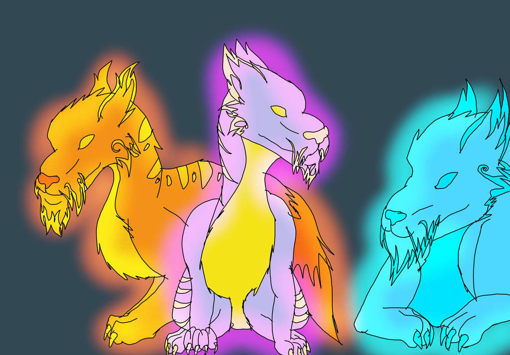 Wizard101 Fire Ice And Storm Cats By Shadowwolf133 On Deviantart
