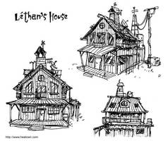 House of the Leviathan sketch by Tohad