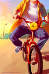 Sun and bike by Tohad