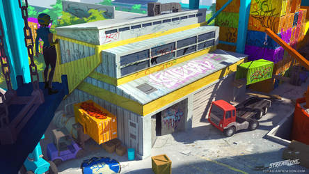 Streamline concept-art : warehouse by Tohad