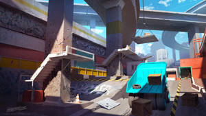 Streamline concept-art : Overpass by Tohad