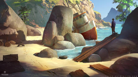 SOS concept art : the shore by Tohad