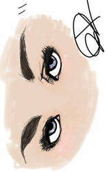 Eyes drawing by Firepowerbaby