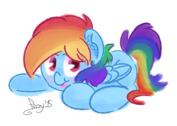 Rude little Rainbow Dash by Perrydotto