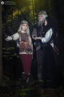 The Witcher books - Ciri, Geralt, Yenn by GreatQueenLina
