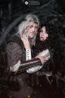 The Witcher books - Geralt and Yennefer by GreatQueenLina