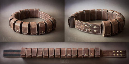 Mandalorians leather belt (Star Wars) by GreatQueenLina