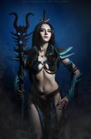 WarhammerFB - Druchii sorceress_8 by GreatQueenLina
