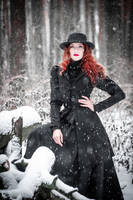 Fire in snowy forest_2 by GreatQueenLina