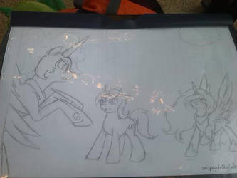 Luna is busy but i guard you Celestia by LimeDreaming