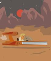 Star Wars Landspeeder by Eyemelt