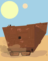 Star Wars Sandcrawler and Jawa by Eyemelt