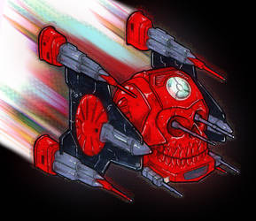 Action Force Red Shadows Roboskull by Eyemelt
