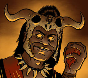 Mola Ram from Indiana Jones and the Temple of Doom by Eyemelt