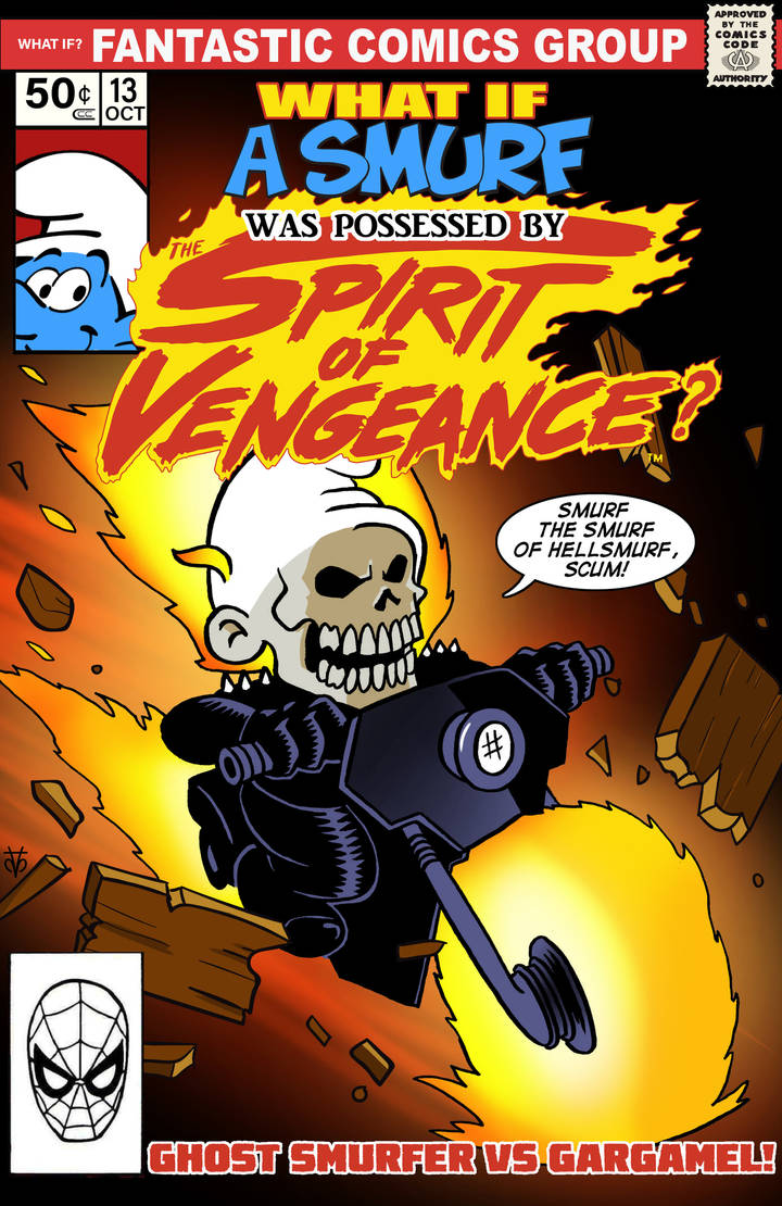 What if A Smurf was Ghost Rider? by Eyemelt
