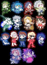 Chibi stickers dump: DMMD, Touhou y Gundam by KidCoca