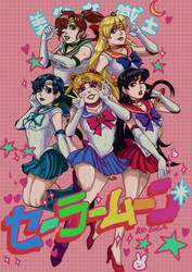 Sailor Senshis Poster by KidCoca
