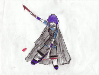 Girl With Cool Purple Hair by kantami