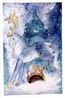 White Christmas Reindeer by kuro-rakuen