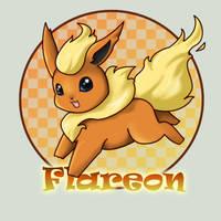 136: Flareon by kuro-rakuen
