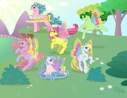 Windy Wing Ponies by kuro-rakuen